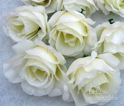 الحار ! 100 قطع الزهور الاصطناعية حليبي الورود الأبيض زهرة رئيس زهرة الكرة زهرة ترتيب الحرير. لوازم حزب الاحتفال زهرة