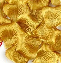 Wholesale Wholesale Sprinkles - Hot ! 2000Pcs Gold Color Simulation Rose Petals Hand Sprinkle Flower Wedding Decorate Get married Supplies