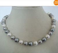 Wholesale Multicolor Shell Pearl Necklace - AAA12mm Multicolor shell pearl necklace 18inch 14KG