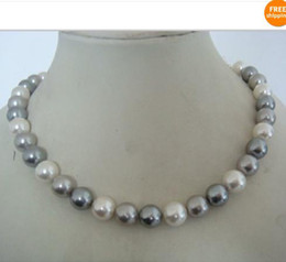 Wholesale Pearl Necklace 14kg - AAA12mm Multicolor shell pearl necklace 18inch 14KG