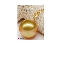 Wholesale Add Heart - 10-11MM genuine south sea gold pearl pendant not add chain