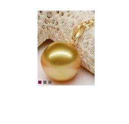 Wholesale Genuine Sea Pearls - 10-11MM genuine south sea gold pearl pendant not add chain