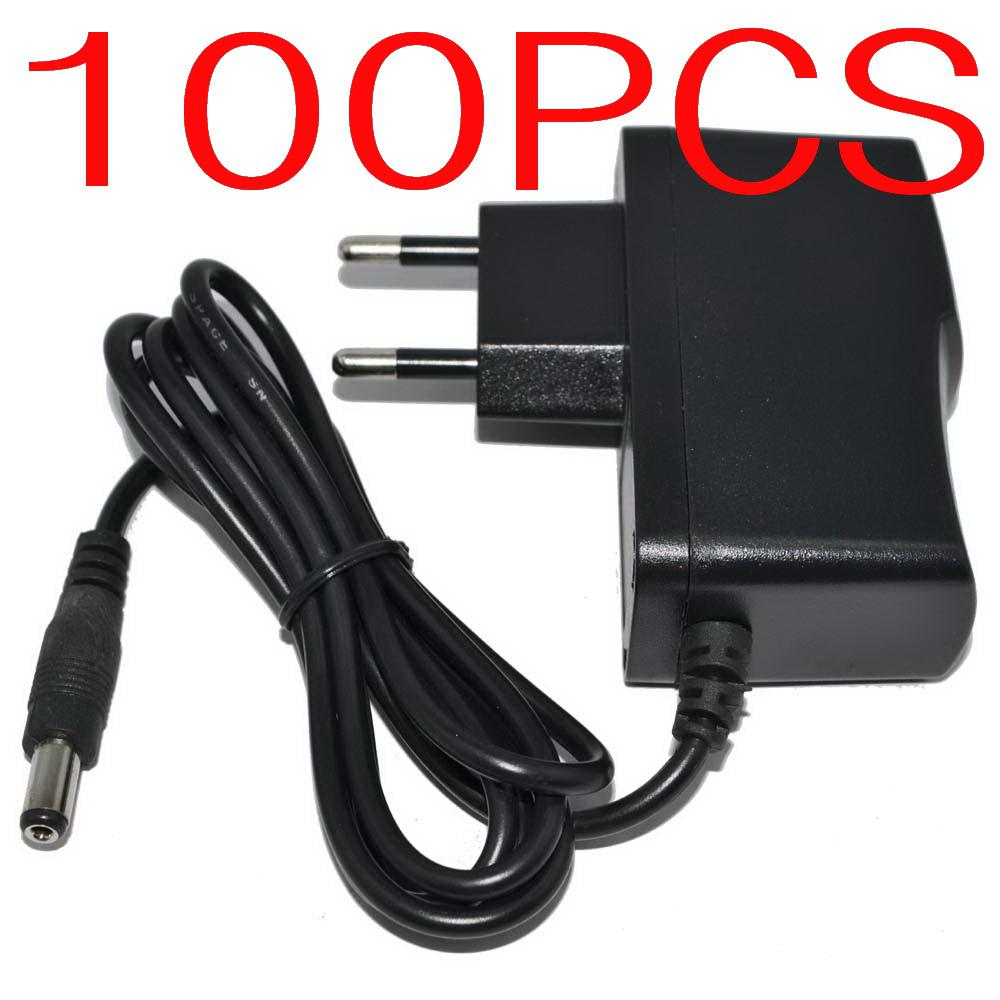 100PCS AC Converter Adapter DC 5V 2A 5V 1.5A 9V 1A 12V 1A 12V 500mA Power Supply Charger EU plug