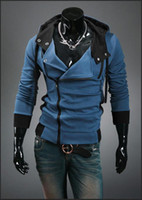 Compra Giacca Di Miglia Desmond-AssNew Assassin's Creed 3 Desmond Miles Hoodie Costume Coat Jacket Cosplay Sweate