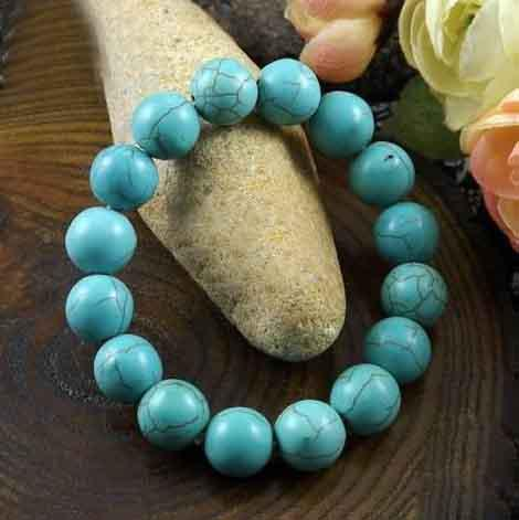 15 stks Turquoise Bead Stretch Armband 6mm 8mm 10mm 12mm 14mm