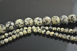 Wholesale 8mm Jasper Beads - Dalmatian Jasper Stone Round Beads 4mm 6mm 8mm 10mm 12mm For jewerly Making 10 strands  lot Free Shipping