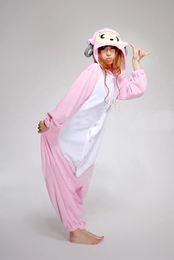 Wholesale Sheep Onesie - Wholesale Price! New Kigurumi Pajamas Anime Pink Sheep Cosplay Costume unisex Adult Onesie Hot Dress