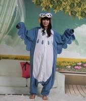 Wholesale Pyjamas Owl - Hot Sell! New Unisex Kigurumi Animal Pajamas Cosplay Costumes Onesie Pyjamas Cute Owl S M L XL