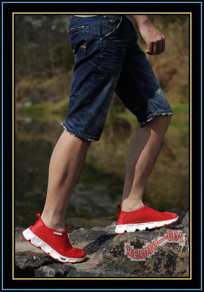 Salomon Mens chaussures de course classique RX Moc 2 Slide coureurs Sports Outdoor Trail chaussure rouges