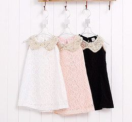 Wholesale Dolls Tutus - 2013 Girls Dresses Lace Doll Collar Fashion Yarn Lace Princess Dress 3 Colors Children's Clothing
