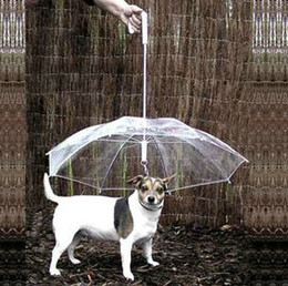 Wholesale Umbrella Canopies - 2013 fashion Pet umbrella dog umbrella pet raincoat dog raincoat zhuaizhu dog rope dog collar