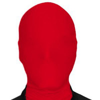 Wholesale Party Mask Making - Red Lycra Spandex Accessories New Zentai Mask Party Halloween Adult Cos S-XXL