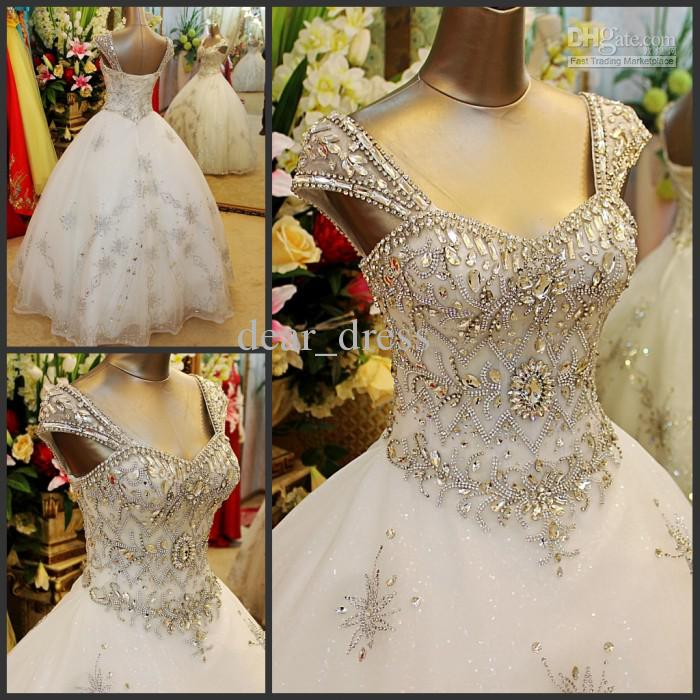 Wedding Ball Gowns With Straps: Free Postage Cheap Ball Gown Sheer Straps Sweetheart