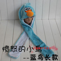 Wholesale Children S Animal Scarf Hats - Animal hat boys and girls children 's hat animal plush hat + scarf + gloves drop ship