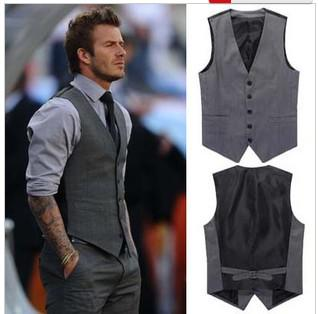 Super New Spring Fashion Star Vest Hommes Classique Gris Elegant Mince Hairstyle Inspiration Daily Dogsangcom