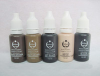 Wholesale Micro Pigment Cosmetic - Lot Of 5 Colors Permanent Makeup Ink 15ML BioTouch Micro Pigment For Kits Cosmetic