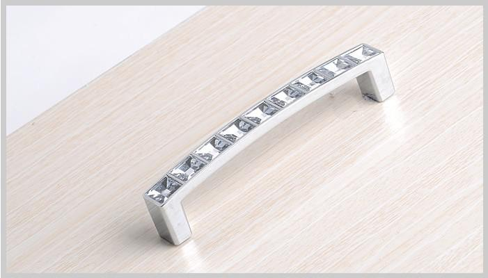 New Arrive Cabinet Door Handle Ambry Drawer Handles European Diamond  Crystal Knob Xmas Gift