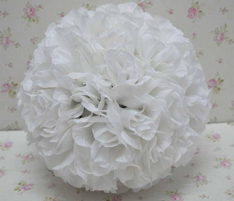 Pure white color 10 inch rose kissing ball artificial silk flower pure white color 10 inch rose kissing ball artificial silk flower wedding flowers calgary wedding flowers design from ericjiang 9247 dhgate mightylinksfo