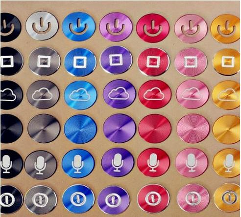 iphone button stickers aluminium metal home button stickers decal for iphone 5 4g 11667
