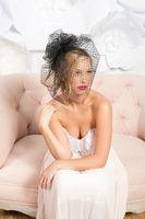 Wholesale Dotted Veil - Vintage Black One Layer With Blusher Polka Dot Tulle Veils Wedding Veil Short Bridal Veil