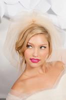 Wholesale blusher veils online - 2017 Nude Blush Pink Two Layers Bridal Veils Tulle Veils Short Bridal Wedding Veils for Brides