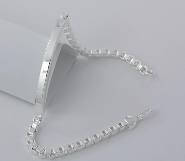 Hot Style 20% OFF Brand NEW Jóias Finas 999 Sterling Silver Bangle Bracelet Preço de Fábrica Frete grátis