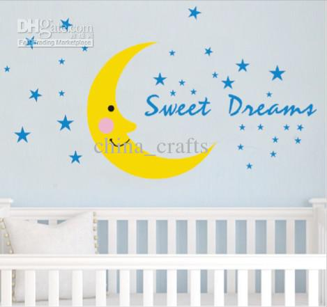 removable sweet dreams wall stickers baby room wall decor nursery