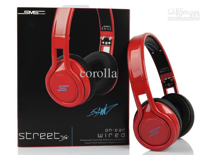 2013 New Sms Audio Wired Street By 50 Cent On Ear Headphones Dj Headsets Sample Drop Ship On Ear Headphones Sport Headphones From Corolla 120 61 Dhgate Com