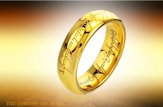 남자들은 반지의 주인, 힘 순수 텅스텐 강철 금도금 된 고리, 전원 손가락 반지