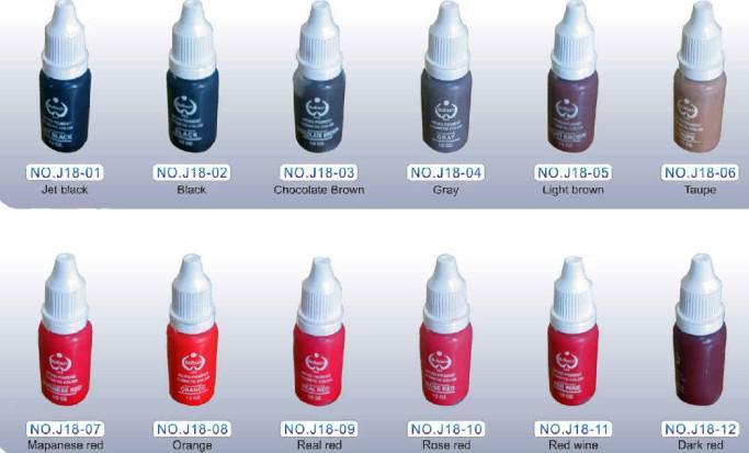 Venta caliente colorida tinta de maquillaje permanente es Bio-Touch Micro pigmento cosmético 15 ML / Set Kits de suministro