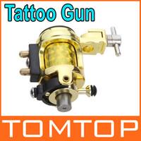 Wholesale Silent Gun - Silent Golden Motor Rotary Tattoo Gun Machine Professional Tattoo Kits for Liner and shader H8766