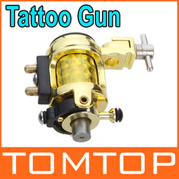 Wholesale Shader Liner Kit - Silent Golden Motor Rotary Tattoo Gun Machine Professional Tattoo Kits for Liner and shader H8766