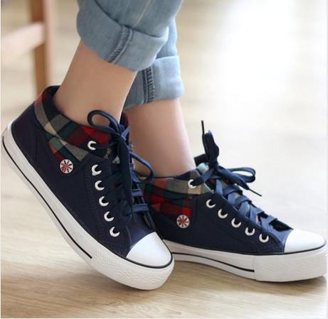 2013 new korea girl lace up casual sneakers students