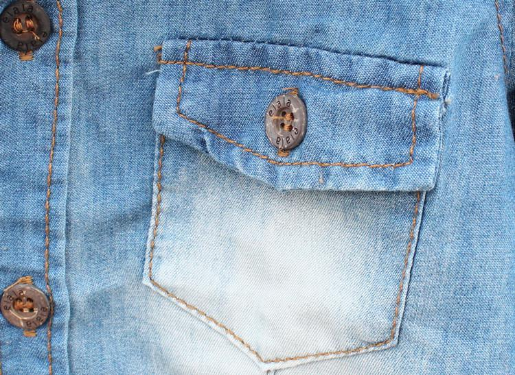 Ragazzi 2013 Camicie di jeans Camicie a maniche lunghe Primavera Autunno Stile Tops Abbigliamento bambini