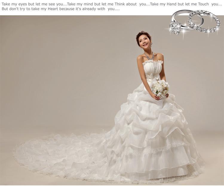 Ruffle Ball Gown Wedding Dress: Princess Strapless Ruffle Ball Gown Wedding Dress Slim