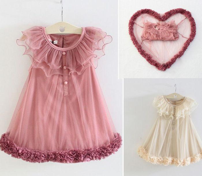 Vestidos da menina Rosas Coração Vestido Dance Performance Dresses Roupas Infantis
