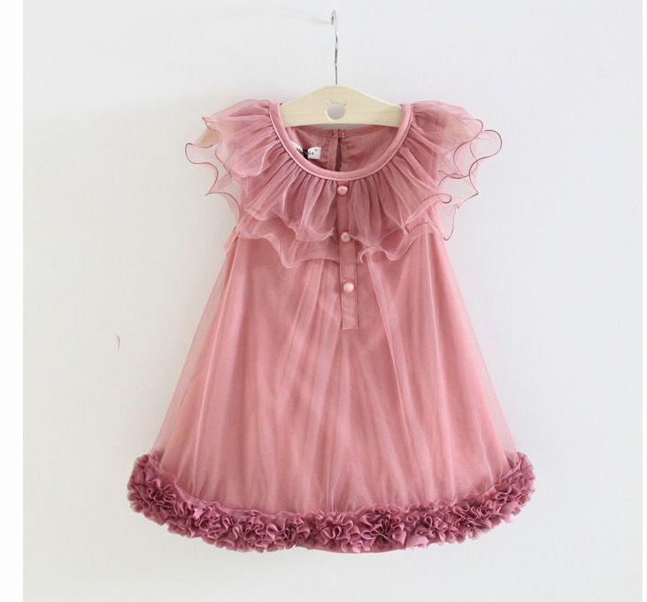 Robes de fille Roses Robe de danse de danse Robes de performance Vêtements pour enfants