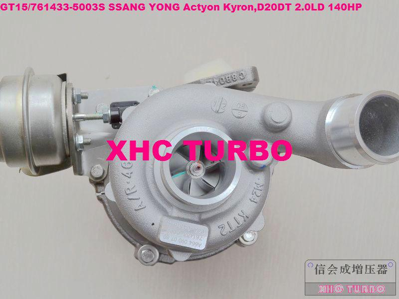 NUEVO GT15 / 761433-5003S A6640900880 Turboalimentador para SSANG YONG Actyon Kyron, motor: D20DT 2.0LD 140HP