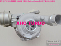 Turbochargers ssang yong kyron - NEW GT15 S A6640900880 Turbocharger for SSANG YONG Actyon Kyron engine D20DT LD HP