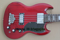 Wholesale Sg Bass Guitars - HOT 4 strings Bass RED SG Bass Electric bass Guitar