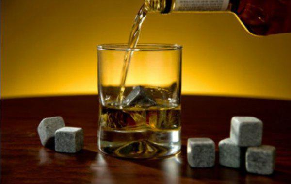 45pcs Lose Whisky Steine Whisky Wein Felsen, 9pcs Set w / Tasche, Weihnachten Valentinstag Vater Geschenk