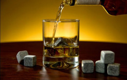 Wholesale Stone Ice Rock - 2set (9pcs=1set) free shipping whisky rocks,whiskey stones,beer stone,whisky ice stone,wine stones