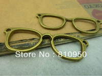 Wholesale Metal Charms Bronze Frame - 19*52mm Metal   Alloy Antique Bronze optical frames Jewelry connection Vintage Charms Jewelry Findin