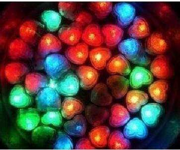 del precio bajo / porción Decoración de Navidad Barra de fiesta de la boda del envío libre Corazón-cubo de hielo Luz