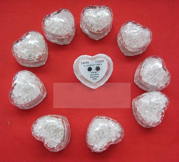 Menor preço / transporte da festa de casamento grátis Heart-Ice Cube Luz Decoração de Natal Bar