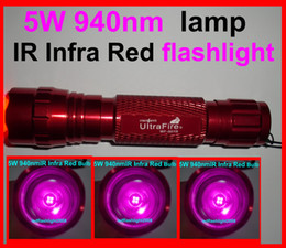 Wholesale 5w Infrared - Ultrafire 501B 5W 940nm Infrared Radiation IR LED Night Vision Flashlight Torch