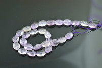 Wholesale Light Amethyst Stones - Faceted Amethyst Flat Oval Beads Light Color Amethyst 10X14mm stone oval beads 10 strand  Lot Free Shipping