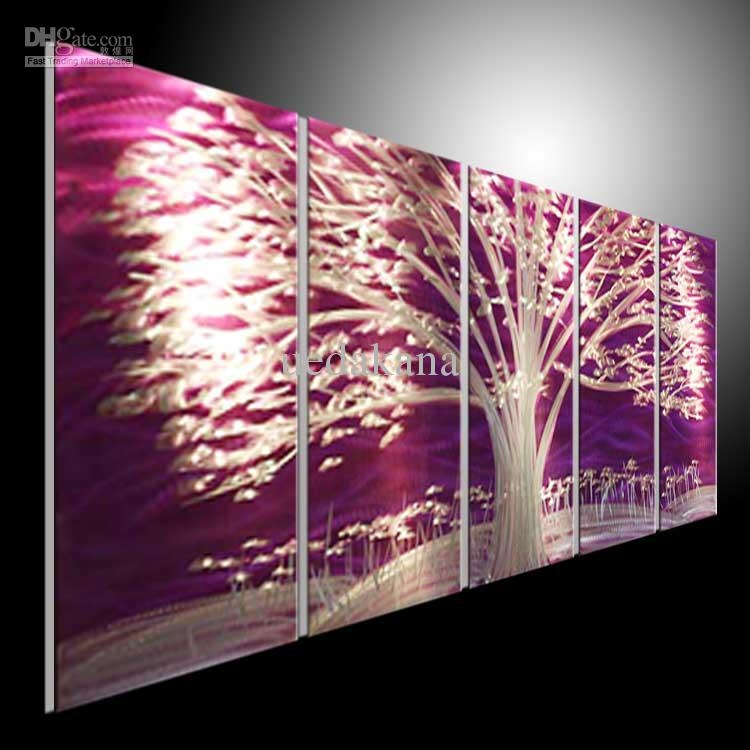 2018 Metal Painting Wall Home Decor Oil Huge Abstract Art Oil Painting Large Wall Decora 100%artist Handing Blue Blue Blank Made Purple Tree From Uedakana ... & 2018 Metal Painting Wall Home Decor Oil Huge Abstract Art Oil ...