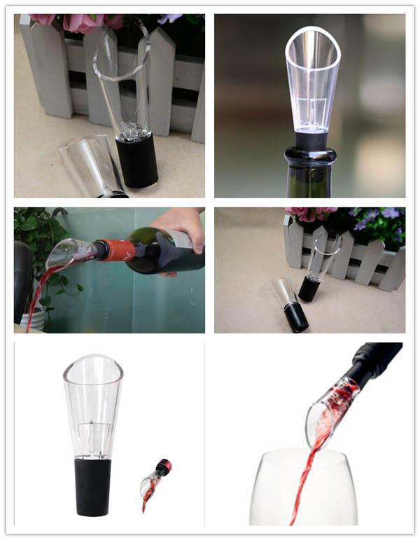 Bec verseur de vin rouge Aérateur de vin Décanter Verser Filtre de vinage aéré Filtres de ventilation