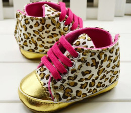 Wholesale Girls Wearing Canvas Shoes - 2017 new Baby girls shoes Leopard Toddler shoes soft sole baby Walkers Wear Comfortable kids Casual Shoes(6pcs lot)